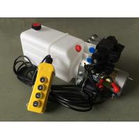 "G3/8"" Oil Port Mini Hydraulic Power Packs , DC 24v Hydraulic Power Pack With 8L Plastic Oil Tank Manufactures"