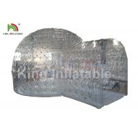 8m Diameter Transparent Clear Event Tent With Tunnel / Dome Party Tent Manufactures