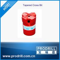 Tapered cross drill bits dia33-40mm for stonework Manufactures