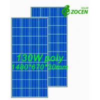 Cheap 130 W 18V Poly Solar Panel Safety IEC61250 / IEC61730 Certified for sale