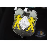 Small Two Lions Logo Enamel Medals Custom Made For Festival Water Proof Manufactures
