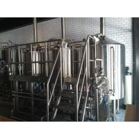 Steam Heated 7BBL Brewhouse , AISI 316 Laboratory Micro Breweries Manufactures