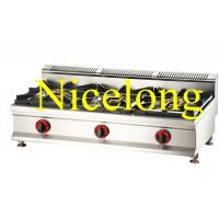 Cheap Nicelong 3 burners gas range can use LPG and NG GBS-3Y for sale