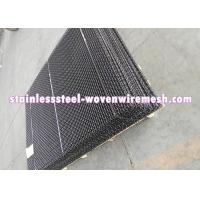 Quality Black Plain Crimp Mining Screen In Roll / Sheet (Black Wire Mesh Screen) Long for sale