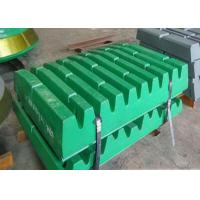 Superior Surface Finish Jaw Plate Crusher Parts , Casting Terex Pegson Crusher Parts