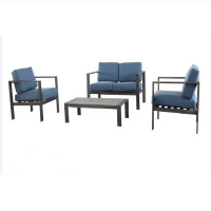 4pc Pe Rattan Sofa Chair Set Outdoor Furnitures For Garden Manufactures