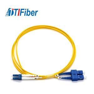 Quality LC-SC Duplex Fiber Optic Patch Cord Single Mode Fibre Optic Patch Leads 1.6mm, 2 for sale