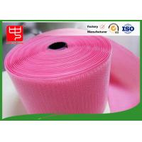 Custom Color Wide hook and loop Hook & Loop Fastening Tape 100% Nylon Light Pink Manufactures
