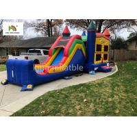 Colorful Single Lane Inflatable Bounce House With Slide Logo Printed Manufactures