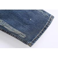 China Printed Skinny Bootcut Denim Jeans , Customized Pattern Destroyed Girlfriend Jeans on sale