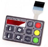 OEM popular and waterproof silicone keypad used for learning machine