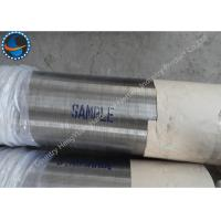 Stainless Steel LTC Threaded Wire Wrap Screen Pipe For Water Well / Oil Well Manufactures