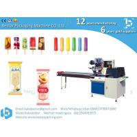 China Automatic Flow Wrapping Machine For Ice Candy Popsicle Ice Cream Stick Packing Machinery on sale