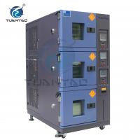 Custom 3 Layer Temperature Humidity Environmental Test Chamber With LCD Touch Screen Controller Manufactures