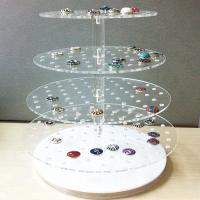 Desktop Acrylic Jewelry Organizer Jewelry Exhibition Acrylic Display Tray For Ring Manufactures