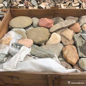 China Mix Color Random Loose Stacked Paving Stone , Random Landscape Wall Stone on sale