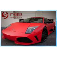 China Red Matte Vinyl Wrap PVC Automobile Waterproof Vinyl Stickers on sale