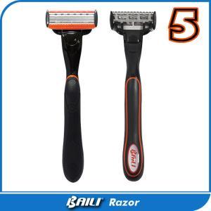 Black handle system razor 5 blades with trimmer blade mens shaver Manufactures