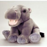 China Lovely Sitting Pose Grey Hippo Stuffed Stuffed Animal Toys For Promotion Gifts on sale