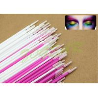 Cheap Plating eyelash cleaner colors Micro Applicator white mauve imported soft fiber for sale