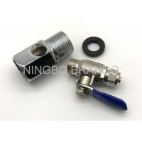 Cheap Zinc Alloy Ball Valve And 3 Way Adapter for Reverse Osmosis Water Purifier for sale
