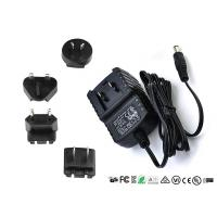 AC DC Wall Mount Interchangeable Plug Power Adapter Input 50hz / 60hz 12V 0.5A Manufactures