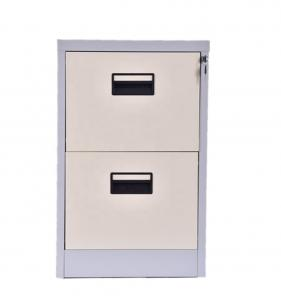 Anti Tilted 728mm Vertical 2 Drawer Locking File Cabinet Manufactures