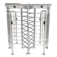 ZKTECO FHT2300D Stainless steel single passage automatic full height turnstile face recognition door lock Manufactures
