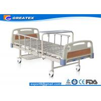 Durable frame Steel board Two Crank Manual Bariatric Hospital Beds With Foldable Table Manufactures