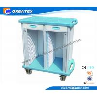 2 Drawers Double Rows 50 Layers  hospital plastic record trolley ABS Manufactures