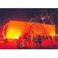 China Cube Inflatable Buildings with Light for Outdoor Party Event on sale