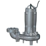 Bomba de água de esgoto submergível vertical industrial, bomba submergível das águas residuais elétricas para a fossa séptica