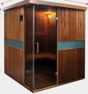 Full Spectrum Far Infrared Sauna Cabin , Canadian Cedar Garden Dry Heat Sauna Manufactures