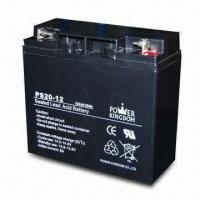 Solar Battery with 12V Voltage and 20Ah Nominal Capacity, Measures 181 x 77 x 167mm Manufactures
