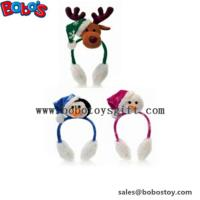 Fashion Design Plush Animal Xmas Ear Muff Be Christmas Decorate Manufactures