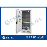 China DC48V Heat Exchanger Cooling Outdoor Battery Cabinet With Environment Monitoring System on sale