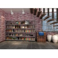 China 3D Vinyl Brick Effect Wallpaper For Bedroom / Coffee Shop , Removable Brick Wallpaper on sale