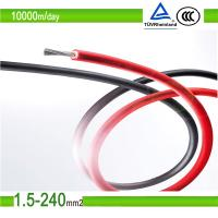 2.5mm2/4mm2/6mm2 red color pv solar photovoltaic cable Manufactures