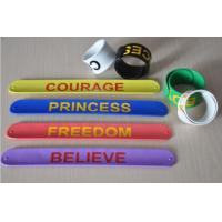 Color ful silicone paipai bangle bracelet silicone slap bracelet with factory price Manufactures