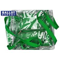 Cheap Environment Friendly Clear Sealed PVC Bag Collapsible Ballot Box With Zipper for sale