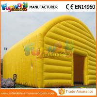 China Yellow And Blue Tennis Field Inflatable Party Tent / Air Cover Inflatable Tennis Court Enclosure on sale
