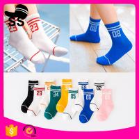 2017 69%cotton 25%Polyester fiber 6%Spandex Digital Patterns Boys Girls Sport Winter Children Kids Baby Socks Manufactures