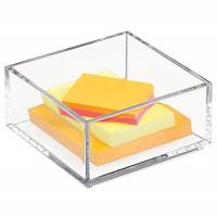 Customized Clear Lucite 4x6 Acrylic Brochure Holders / Paper Sticky Note Pad Holder Manufactures