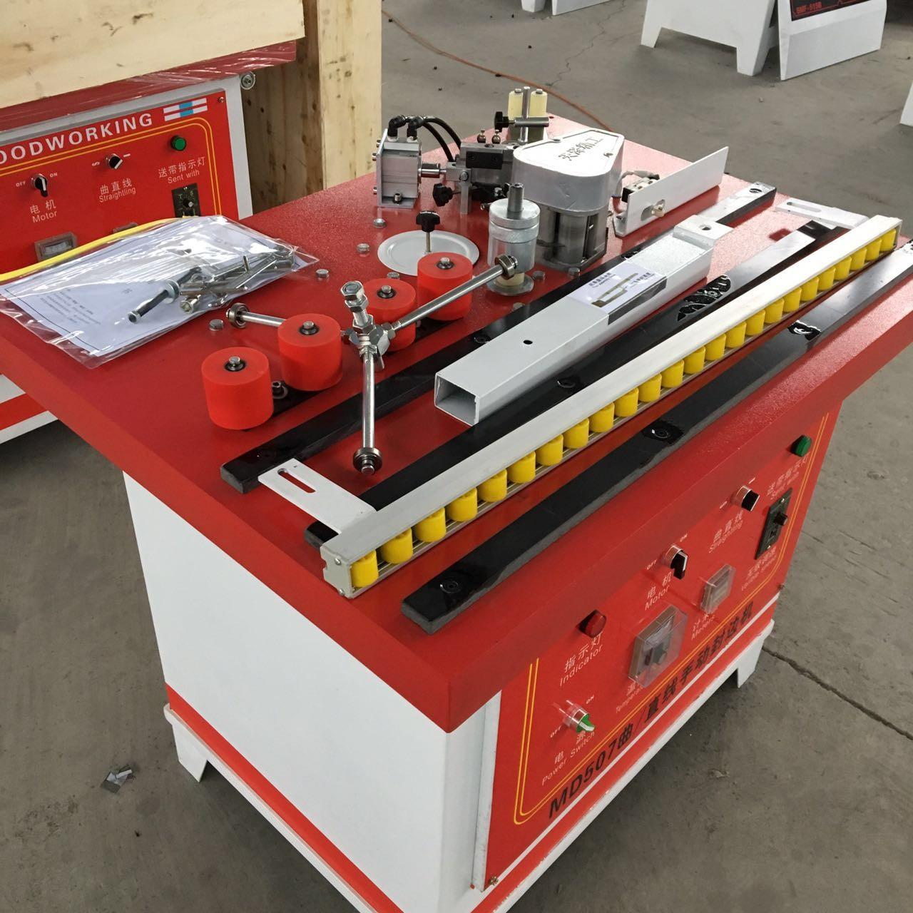 China Furniture Manual Edge Banding Machine High Speed With Cast Iron Worktable on sale