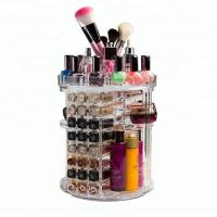 Clear Fashion Acrylic Cosmetic Display Rotating Acrylic Lipstick Organizer Manufactures