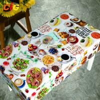 Waterproof Anti Mildew Printing PVC Table Cloth With Nonwoven Backing Manufactures