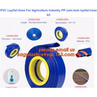 China PVC Layflat Hose For Agriculture Industry PP cam-lock layflat hose kit on sale
