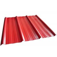 Coloured Corrugated Roofing Sheets , Powder Coated Corrugated Metal Roofing Sheets Manufactures