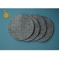 Anti - Slip Non Woven Felt Fabric , Polyester Felt PVC Dot Coated Acupuncture Manufactures