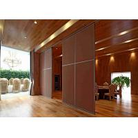 China Eco - Friendly  Sliding Screen Room Divider Acoustic Insulation Vinyl Finish on sale